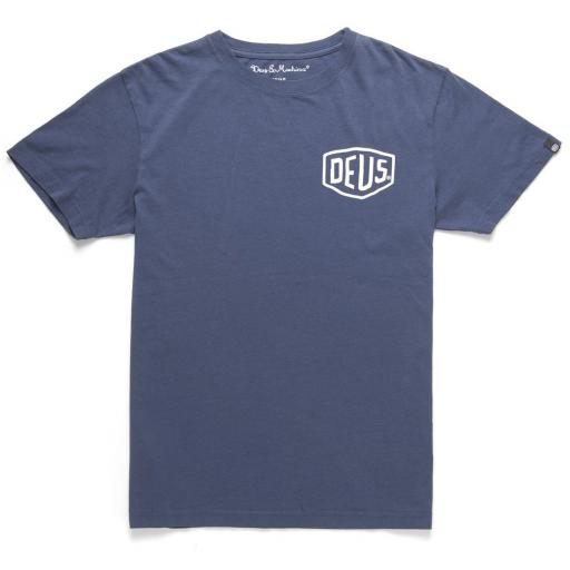 Deus Ex Machina Milano Address Tee Blue