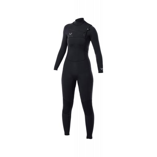Ladies Volte 4-3 chest zip Premium wetsuit