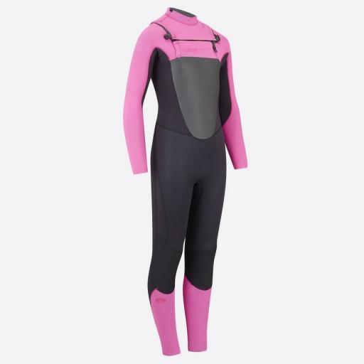 Animal Lava 4-3 Chest Zip Wetsuit, Girls.