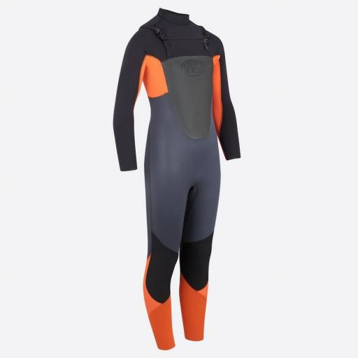 Animal Lava Chest Zip Boys 4-3 Wetsuit