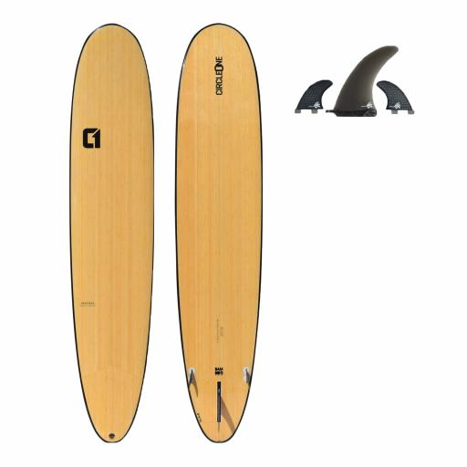 Circle One 9' Bamboo Longboard