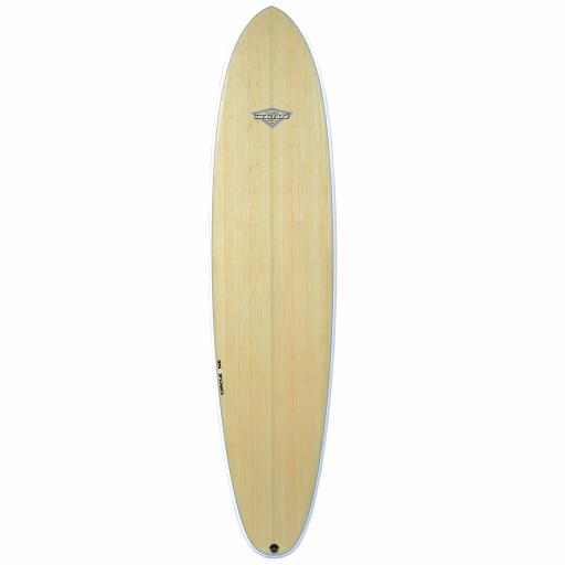 "Circle One 7'10"" BAMBOO Round Tail Mini Mal Surfboard"