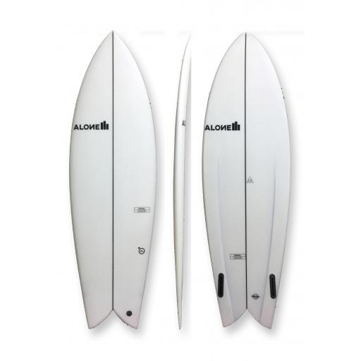 Alone Twinny PU Twin Fin Fish Surfboard