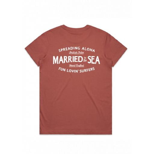 Married To The Sea Fun Lovin Women's T-Shirt Coral