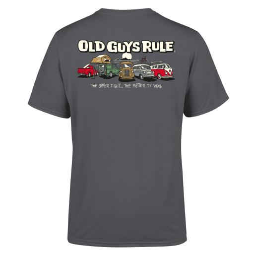 Old Guys Rule Parking Lot III T-shirt Charcoal