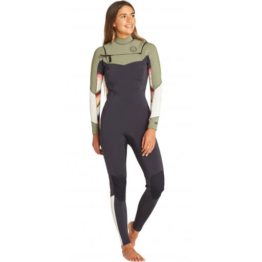 Billabong salty days chest zip 4-3 serape ladies wetsuit