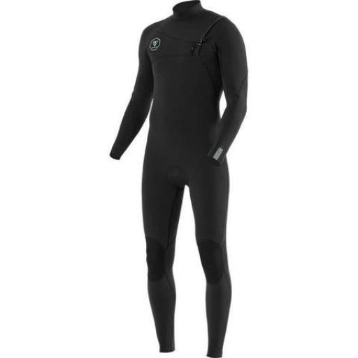 VISSLA 7 SEAS 5/4 WETSUIT CHEST ZIP BLACK/JADE 2020/21