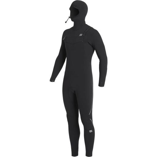 Billabong Furnace Comp 4-3 chest zip hooded wetsuit
