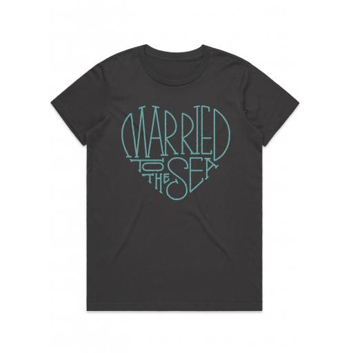 Married To The Sea Love T-Shirt Charcoal