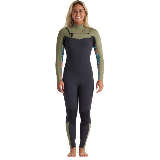 Billabong Salty Dayz 5-4 Womens Chest Zip Wetsuit
