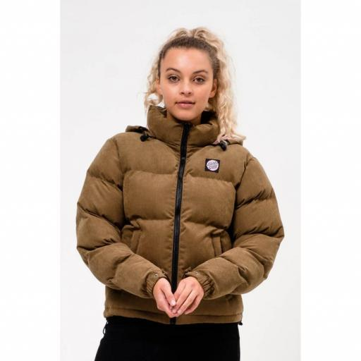 Santa Cruz Command Olive Green Ladies Puffer Jacket