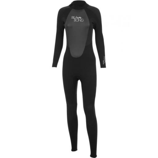 Billabong 403 Launch LS Steamer ladies back zip wetsuit