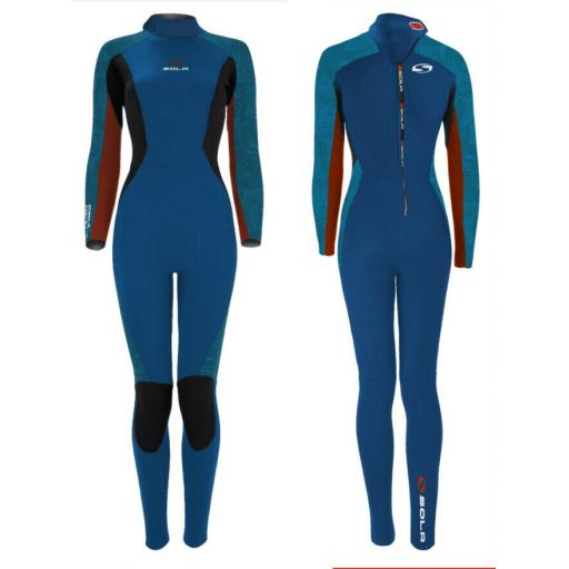 Sola Star Ladies 5-4 back zip winter wetsuit
