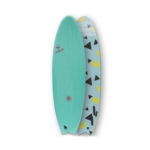 Mobyk 6'6 Quad Fish Softboard - Turquoise